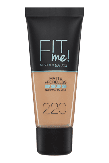 Base de maquillaje matificante Fit me mate afina poros tono natural beige 220